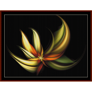 fractal 265 cross stitch pattern by cross stitch collectibles