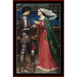 Tristan and Isolde -Waterhouse cross stitch pattern by Cross Stitch Collectibles | Crafting | Cross-Stitch | Other