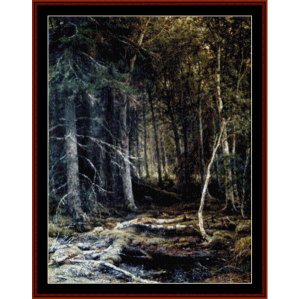 forest horizons - shishkin cross stitch pattern by cross stitch collectibles