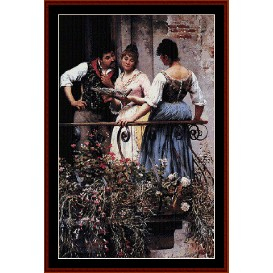 On the Balcony - De Blass cross stitch pattern by Cross Stitch Collectibles | Crafting | Cross-Stitch | Wall Hangings