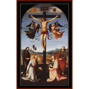the crucifixion - raphael cross stitch pattern by cross stitch collectibles