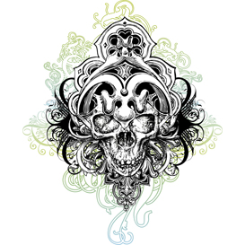 warrior skull illustration