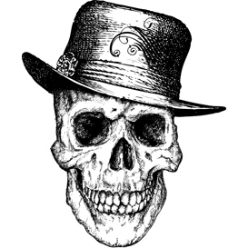 pimp skull vector illustration