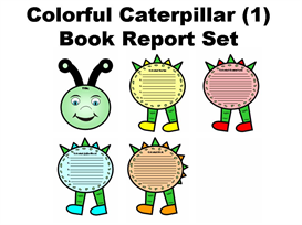 Colorful Caterpillar (1) Book Report Set | Other Files | Documents and Forms