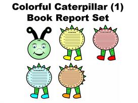 colorful caterpillar (1) book report set