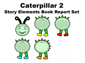 caterpillar (2) story elements book report set