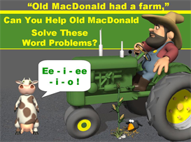 old macdonald math word problems