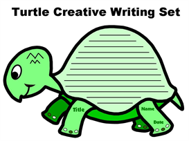 turtle creative writing set