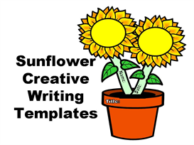 sunflower creative writing templates