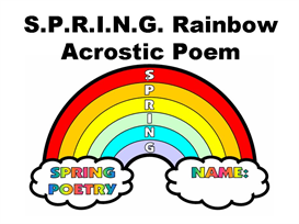 s.p.r.i.n.g. rainbow shaped acrostic poem