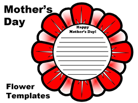 mother's day flower templates set