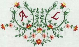 monogram potpourri 5x7 collection