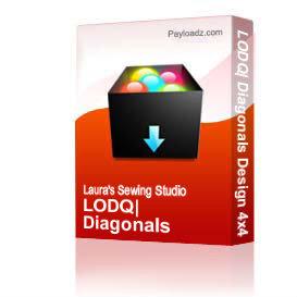 LODQ: Diagonals Design 4x4 Hoop JEF | Other Files | Arts and Crafts