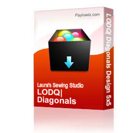 LODQ: Diagonals Design 5x5 Hoop DST | Other Files | Arts and Crafts