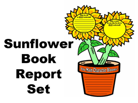 sunflower book report set