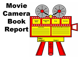 movie camera book report set