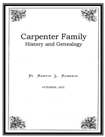 Carpenter Family History and Genealogy | eBooks | History