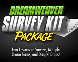 Survey Kit using Dreamweaver, PHP and Flash | Movies and Videos | Educational