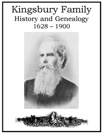 Kingsbury Family History and Genealogy | eBooks | History