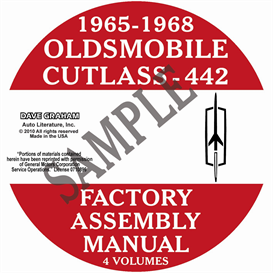 1965-1968 oldsmobile factory assembly manuals