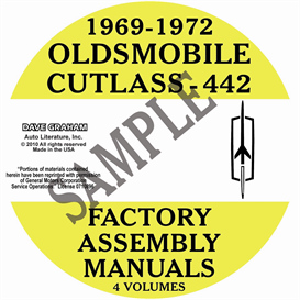 1969-1972 oldsmobile factory assembly manuals