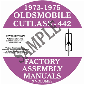 1973-1975 oldsmobile factory assembly manuals
