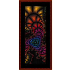 fractal 272 bookmark cross stitch pattern by cross stitch collectibles