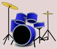 in the hot hot rays- -drum tab