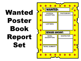 wanted poster book report set