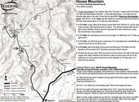 house mountain sedona arizona 4x4 jeep trail map bw printable .pdf