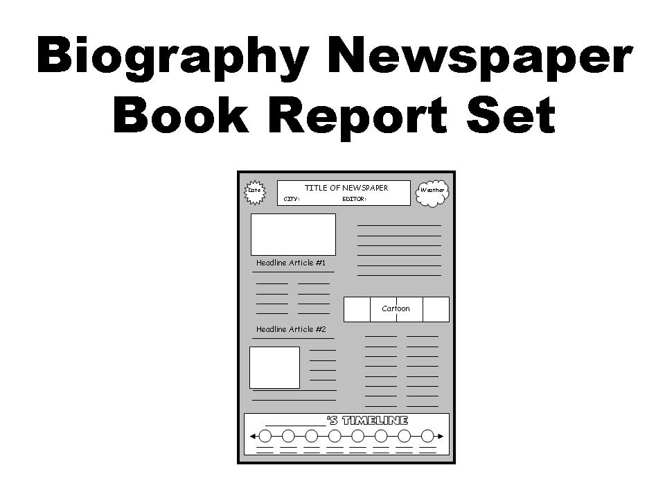 Biography Book Report Newspaper Other Files Documents And Forms