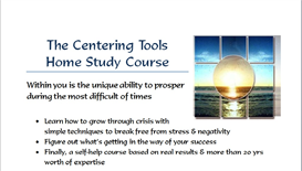centering tools home study system