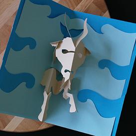 capricorn/sea goat- easycutpopup