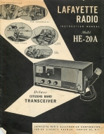 Lafayette HE-20A, HE-20C CB Radio Manual | Other Files | Documents and Forms