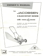 jacobsen 4-blade rotary mower with power flo  engine