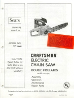 sears craftsman electric chain saw 315.34660 manual