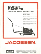 jacobsen super bagger lawn mower operator's manual