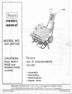 Sears 5HP Chain Drive Tiller Manual 247.297750 | Other Files | Documents and Forms