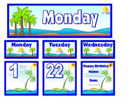 june calendar set