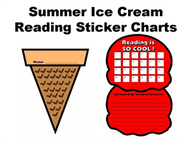 summer ice cream reading sticker charts