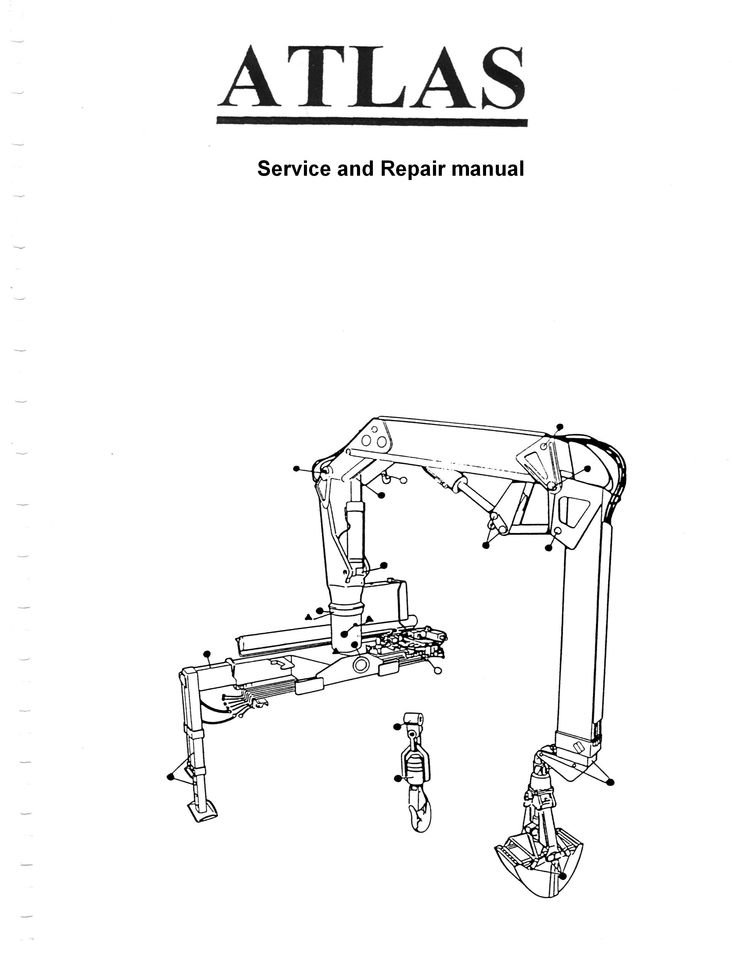 atlas 100 0 crane service manual