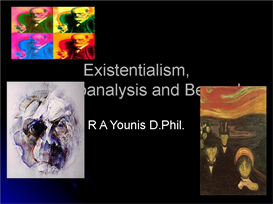 existentialism, psychoanalysis & beyond