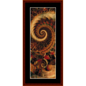 fractal 276 bookmark cross stitch pattern by cross stitch collectibles