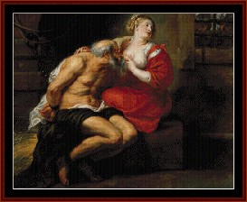 simon and pero - rubens cross stitch pattern by cross stitch collectibles