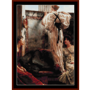 who is it? - alma tadema cross stitch pattern by cross stitch collectibles