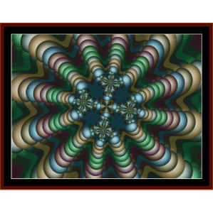 fractal 274 cross stitch pattern by cross stitch collectibles