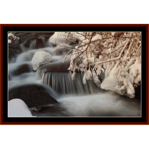 winter creek - nature cross stitch pattern by cross stitch collectibles