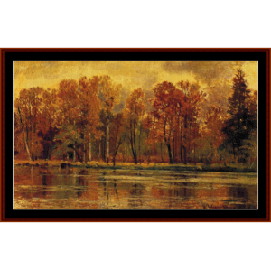 indian summer - shishkin cross stitch pattern by cross stitch collectibles