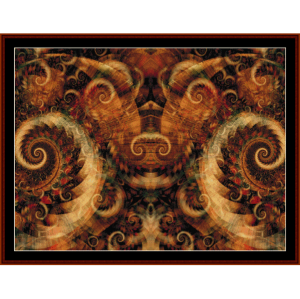 Fractal 276 cross stitch pattern by Cross Stitch Collectibles | Crafting | Cross-Stitch | Wall Hangings