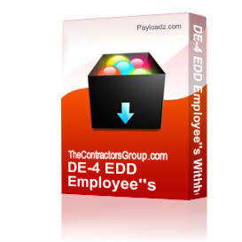 DE-4 EDD Employee's Withholding Allowance Certificate | Other Files | Documents and Forms